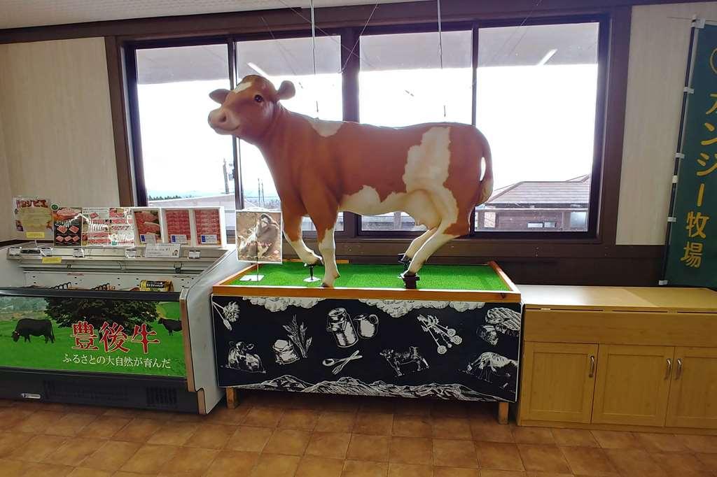 ガンジー牧場 牛の模型