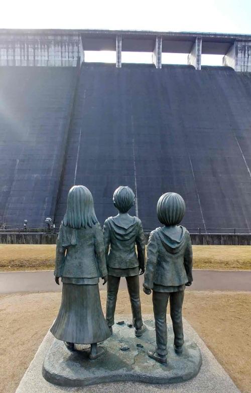 大山ダム 銅像