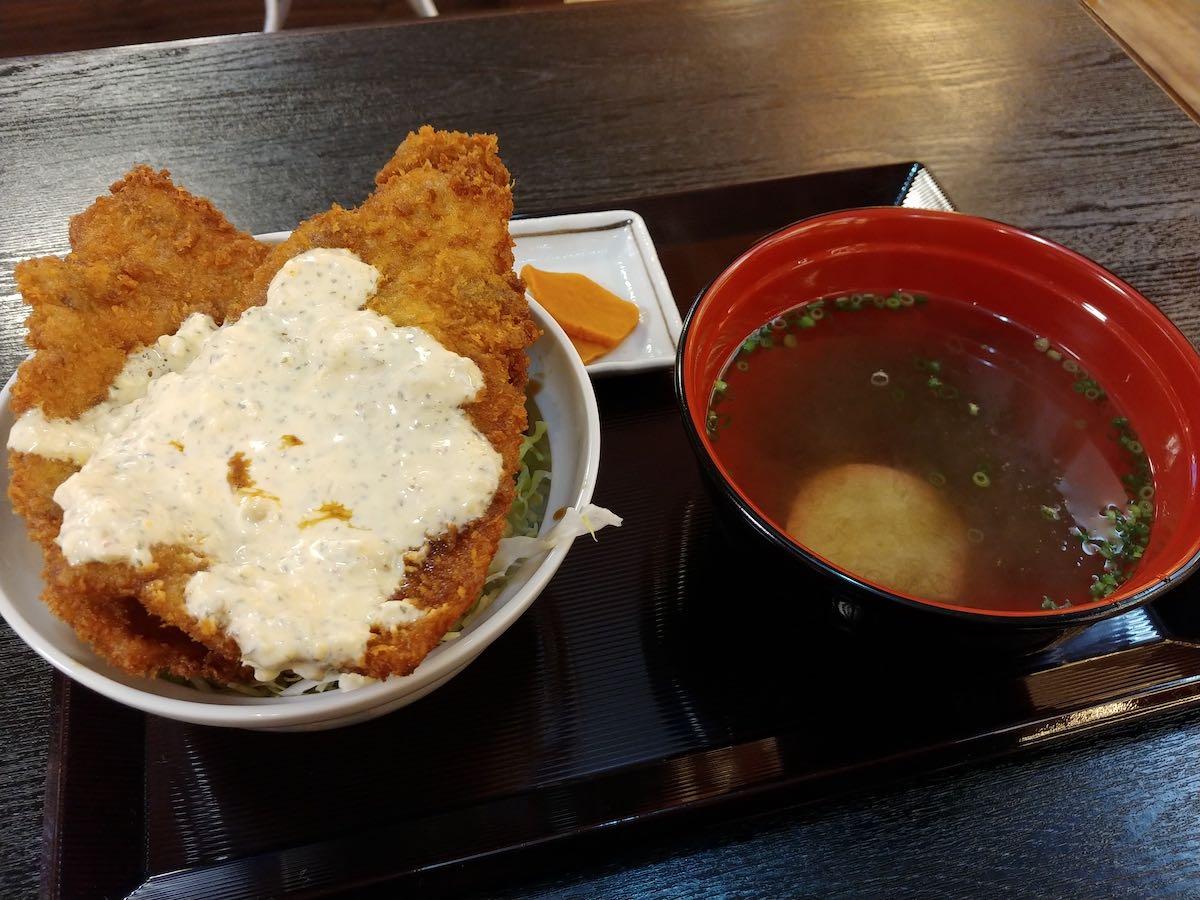 三足のわらじ ソースかつ丼定食