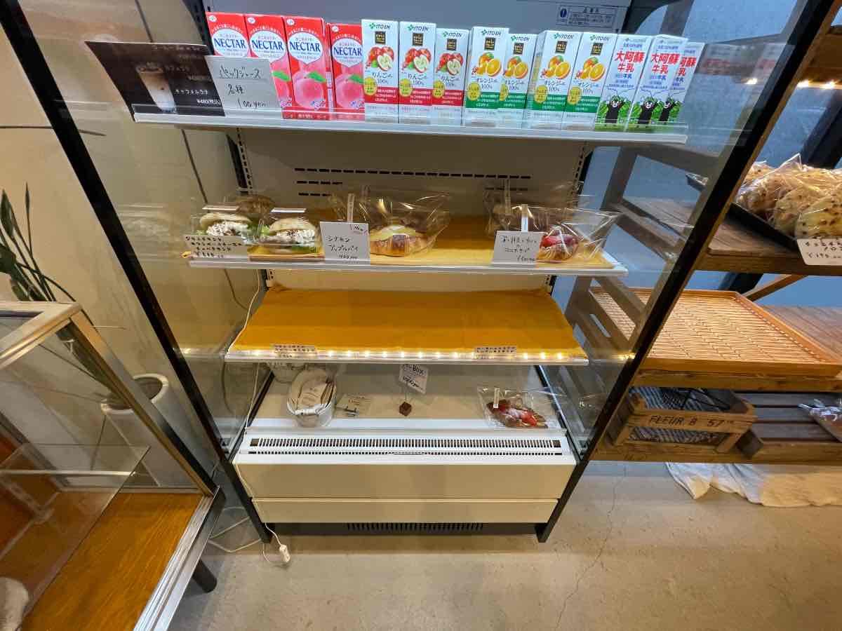 もとまちカフェ&ベーカリー 冷蔵ケース