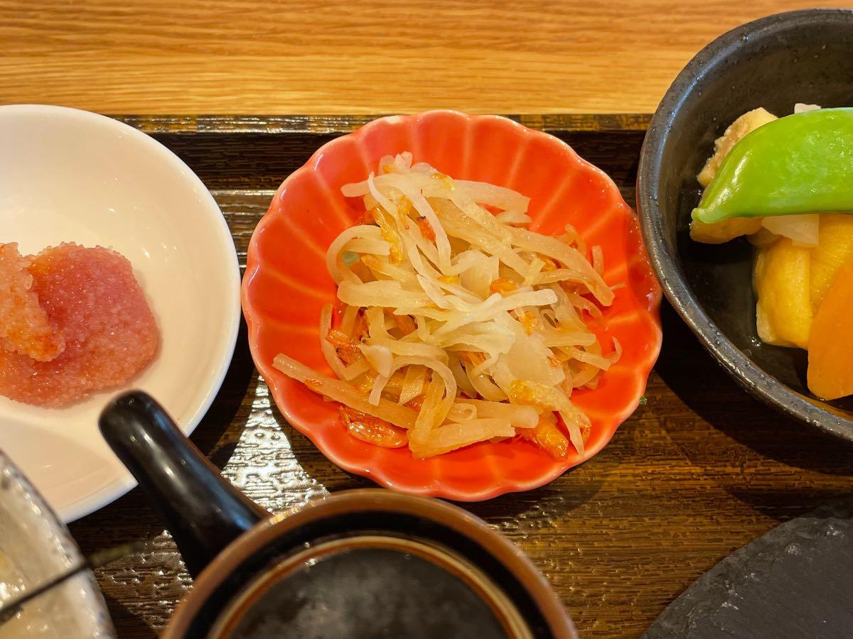 クアパーク 朝食ヤーコンと桜エビきんぴら