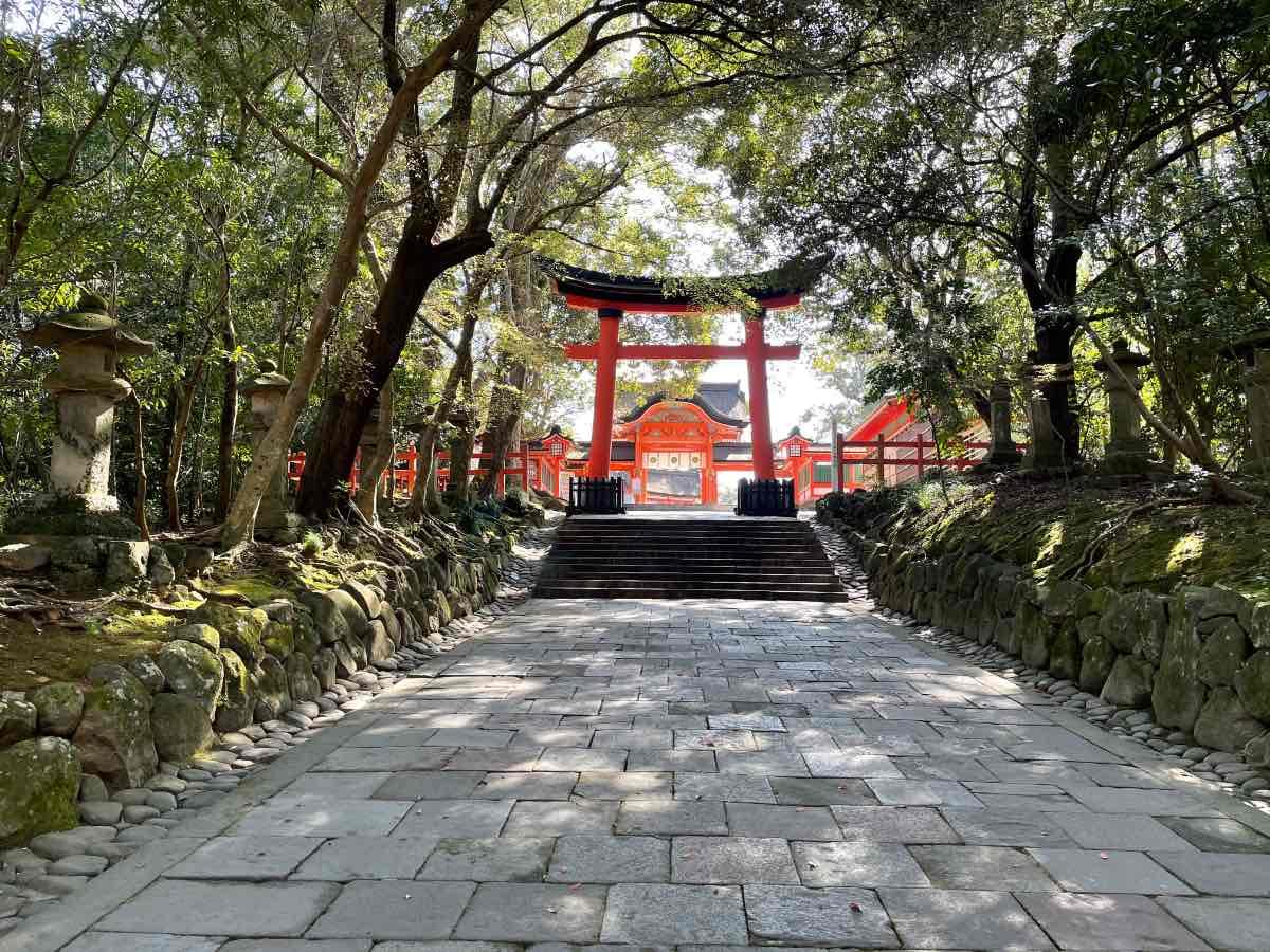 宇佐神宮 上宮への道
