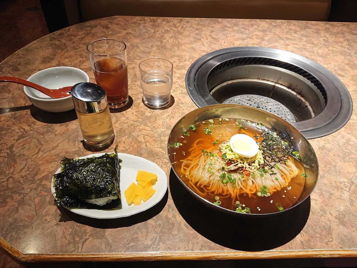 焼肉苑さとう 別府店・冷麺・おにぎりランチ