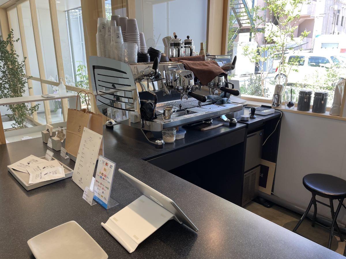 TAKENISHI TERRACE YOAKE COFFEE コーヒーマシン