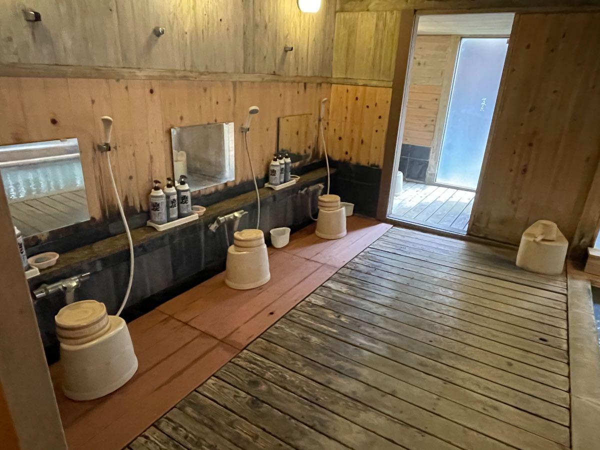 大丸旅館 女湯洗い場