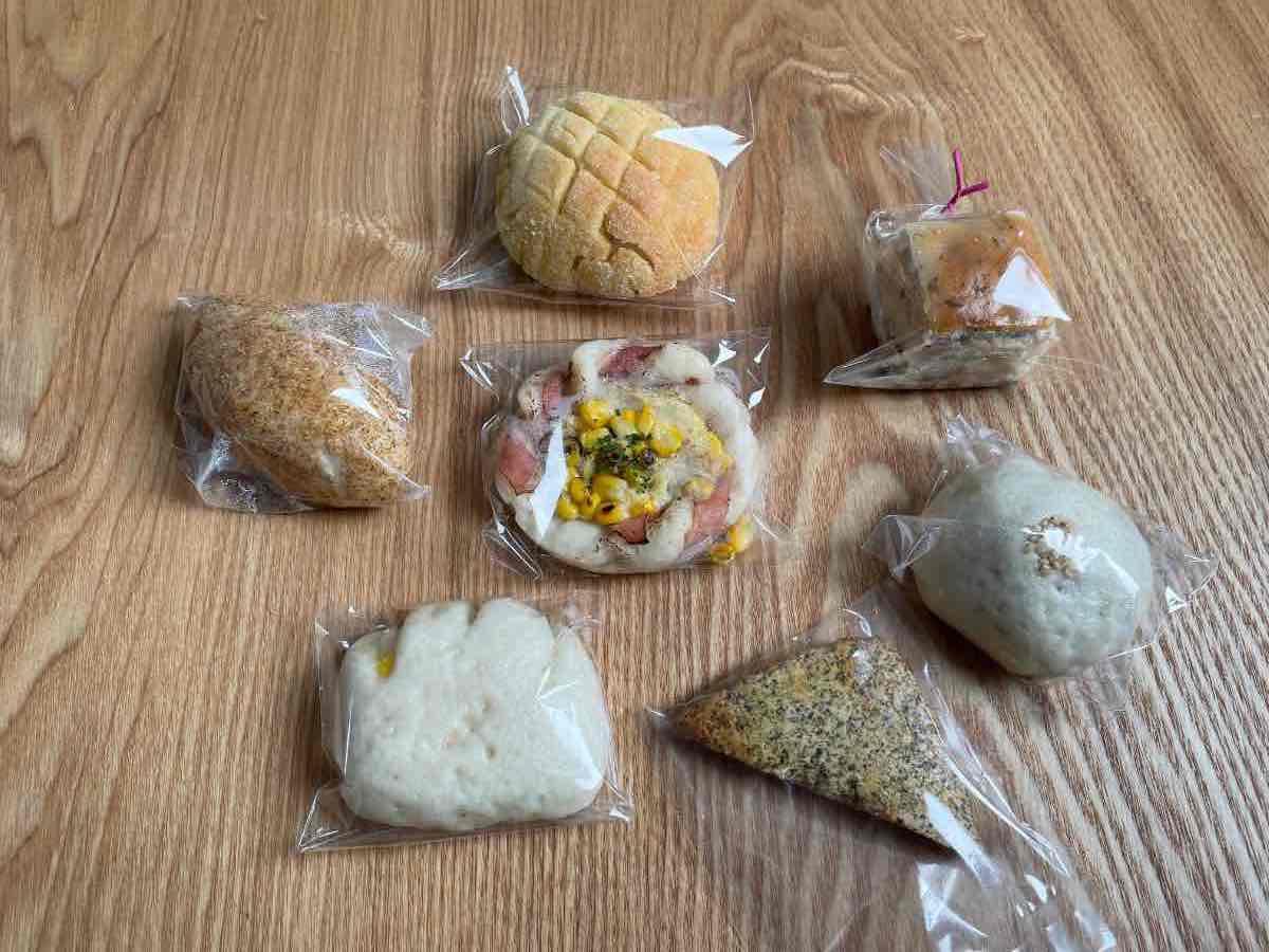 虹の穂 購入したパン7種類