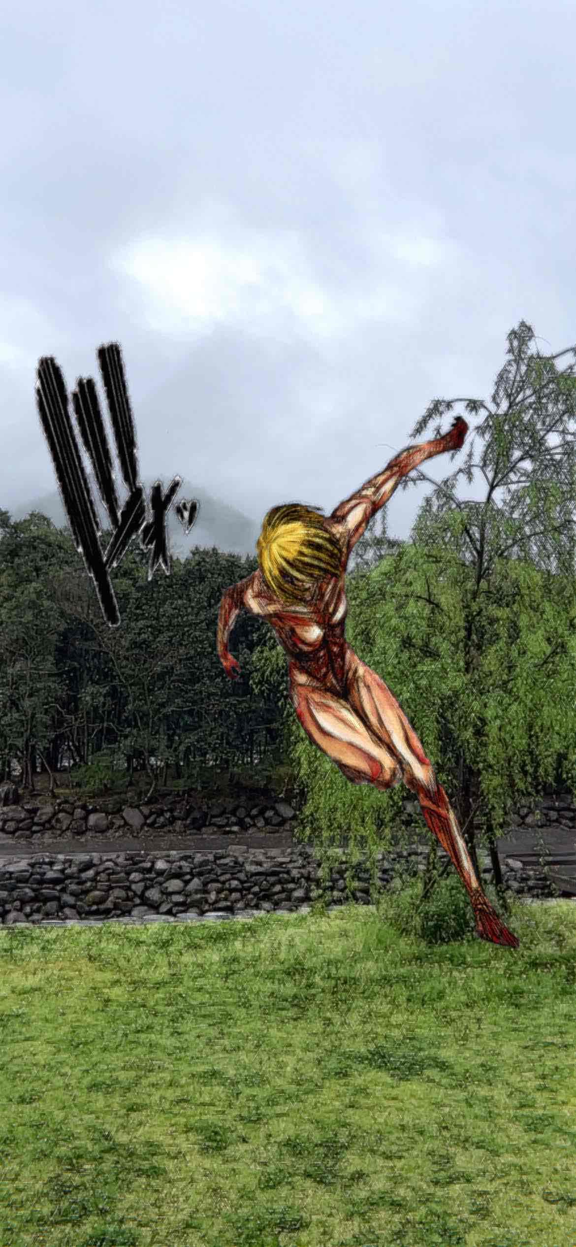 進撃の巨人 女型の巨人AR