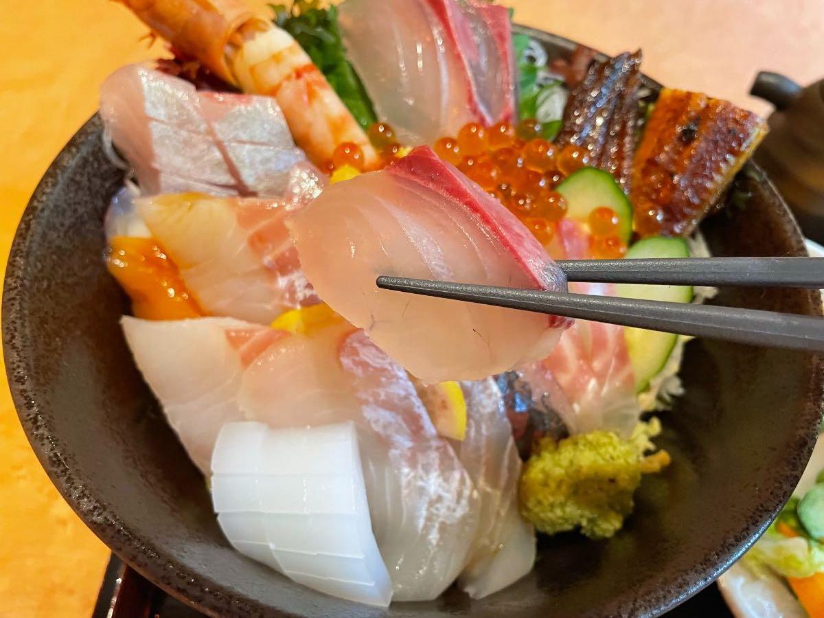 魚彩さくら亭 海鮮丼 はまち