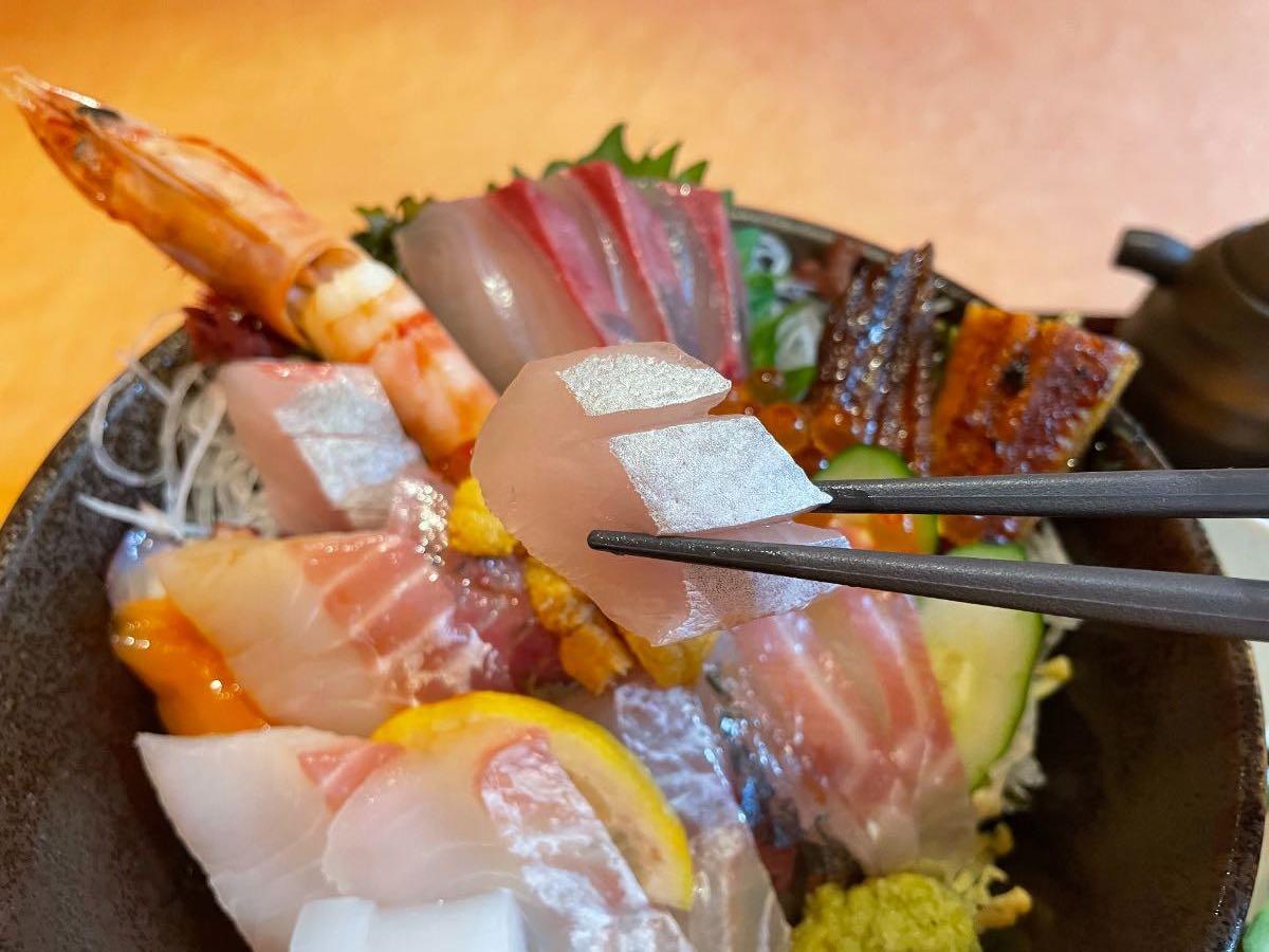 魚彩さくら亭 海鮮丼 かんぱちのはらみ