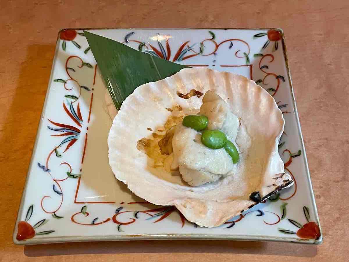 魚彩さくら亭 貝のごまクリーム焼き