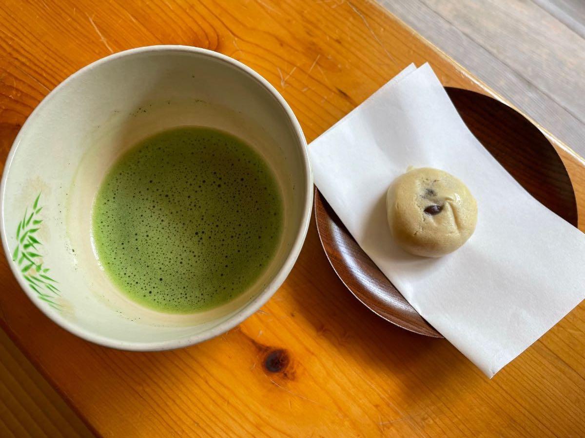 汲心亭 抹茶と和菓子