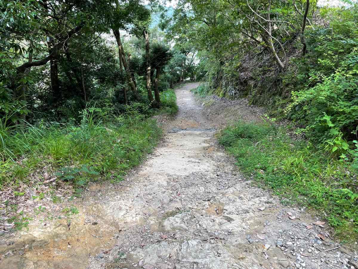 佐伯城跡 下り独歩碑の道