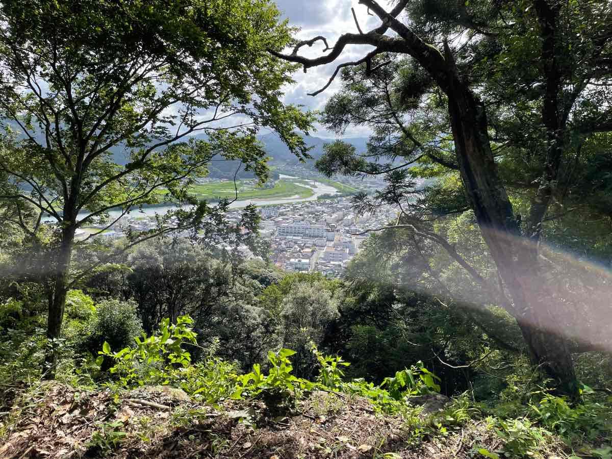 佐伯城跡 二の丸跡からの景色