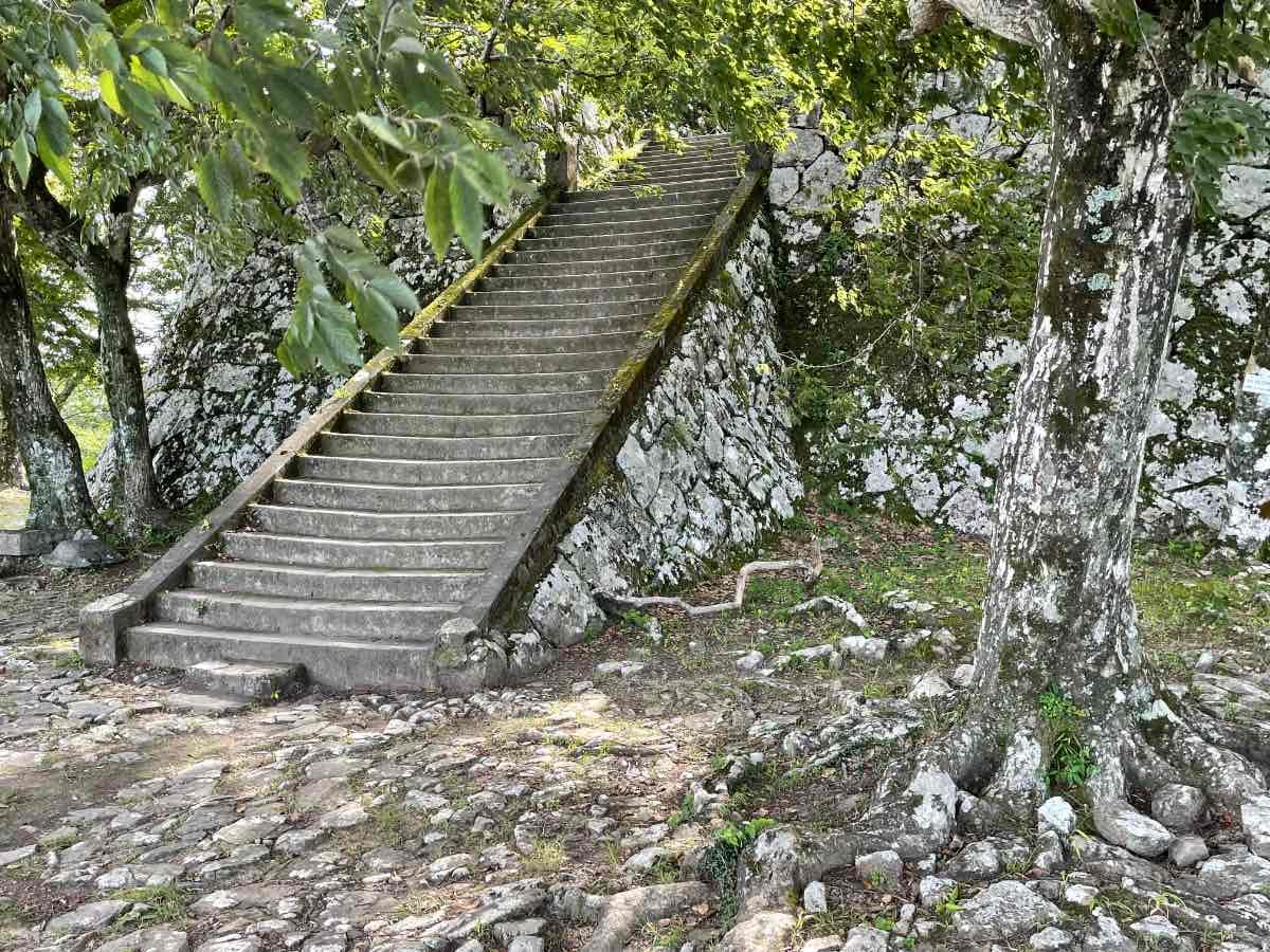 佐伯城跡 本丸跡への階段
