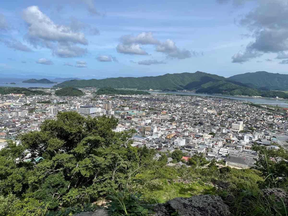 佐伯城跡 山頂からの景色
